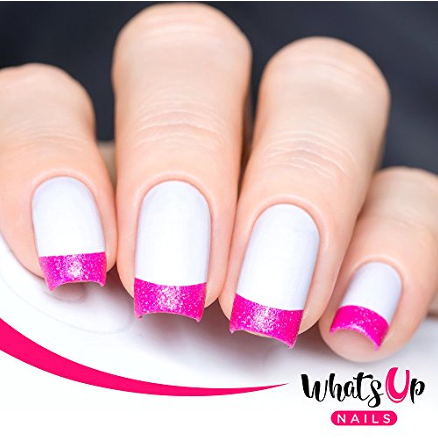 Whats Up Nails - French Tip Tape Nail Stencils Stickers Vinyls for ...