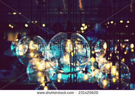 Colorful lighting decoration for celebration night  - stock photo