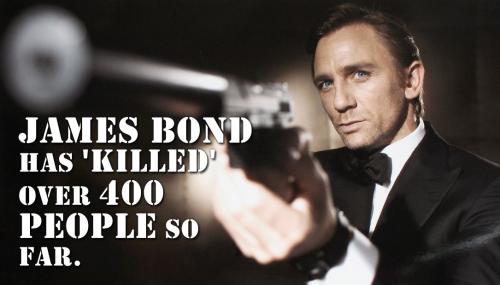 Fictional British Secret Service agent, James Bond has