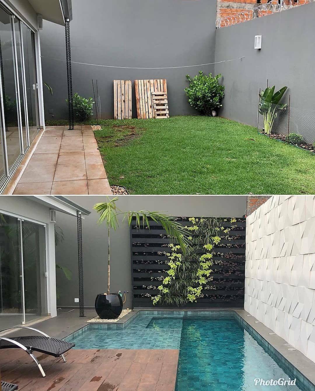 La Cuenta De Twitter Para Los Amantes De Los Antes Y Despues Jardines Para Casas Pequenas Piscinas Jardines Pequenos Con Piscina