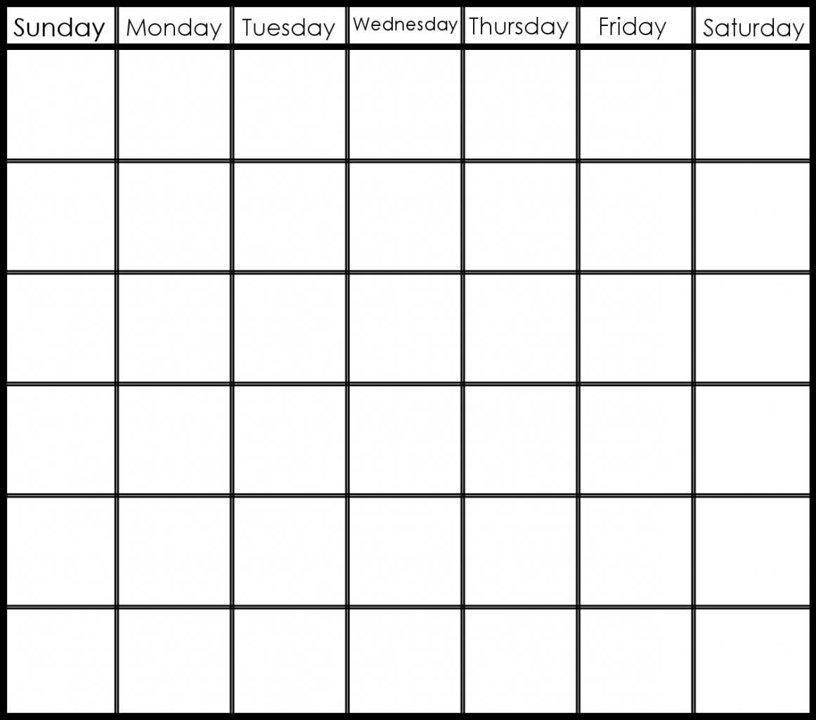 two week calendar template