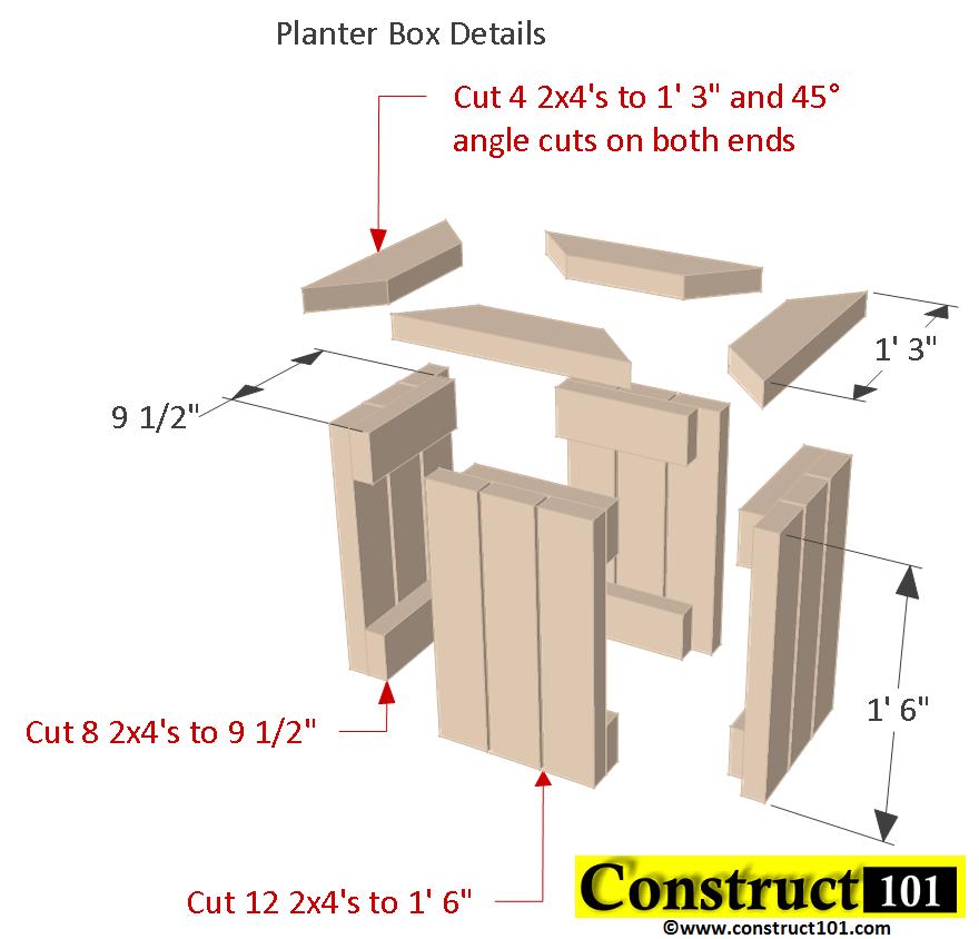 Planter Bench Plans Built With 2X4 S Free Pdf Planter 400 x 300