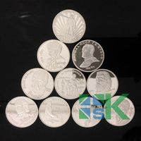 1set 10pcs/ set  Russian heros silver plated  coin free shipping