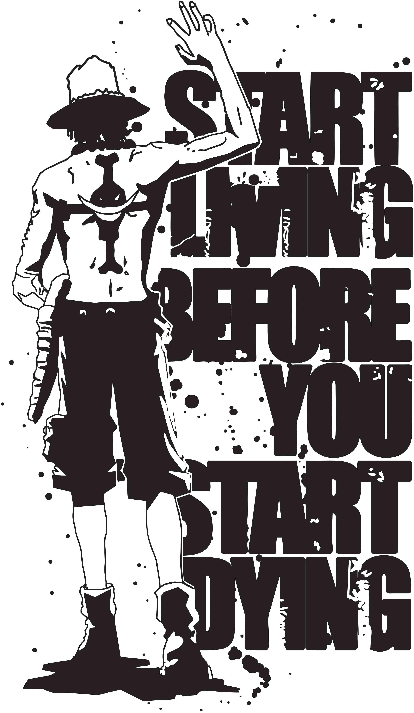 One Piece Quotes Wallpapers Wallpaper Cave Di 2020 Tato Pria Animasi Gambar