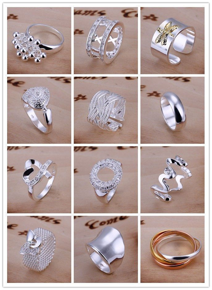 Fashionable .925 Sterling Silver Spoon Style Ring Size 6-10 New
