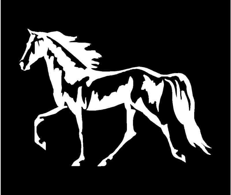 "11 Colors WALKING HORSE Vinyl Decal 7/"" x 5/"""