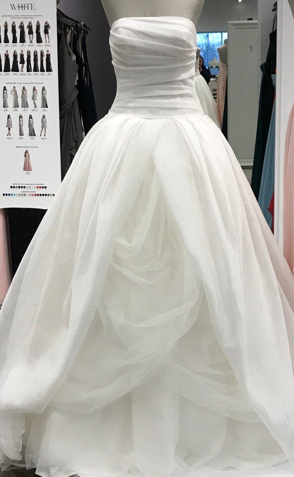 730338019121 Vera Wang White by Vera Wang Textured Organza VW351178 Wedding Dress ...