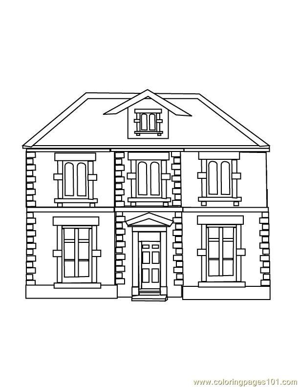 Guest House Coloring Page Coloring Pages Building Illustration