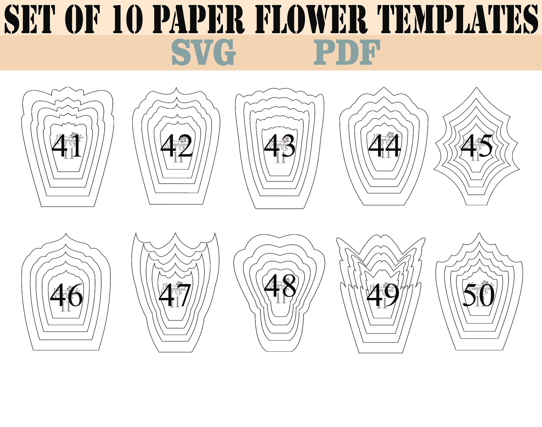 Bundle 3 All 20 Pdf Svg Paper Flower Template Giant Paper Flower