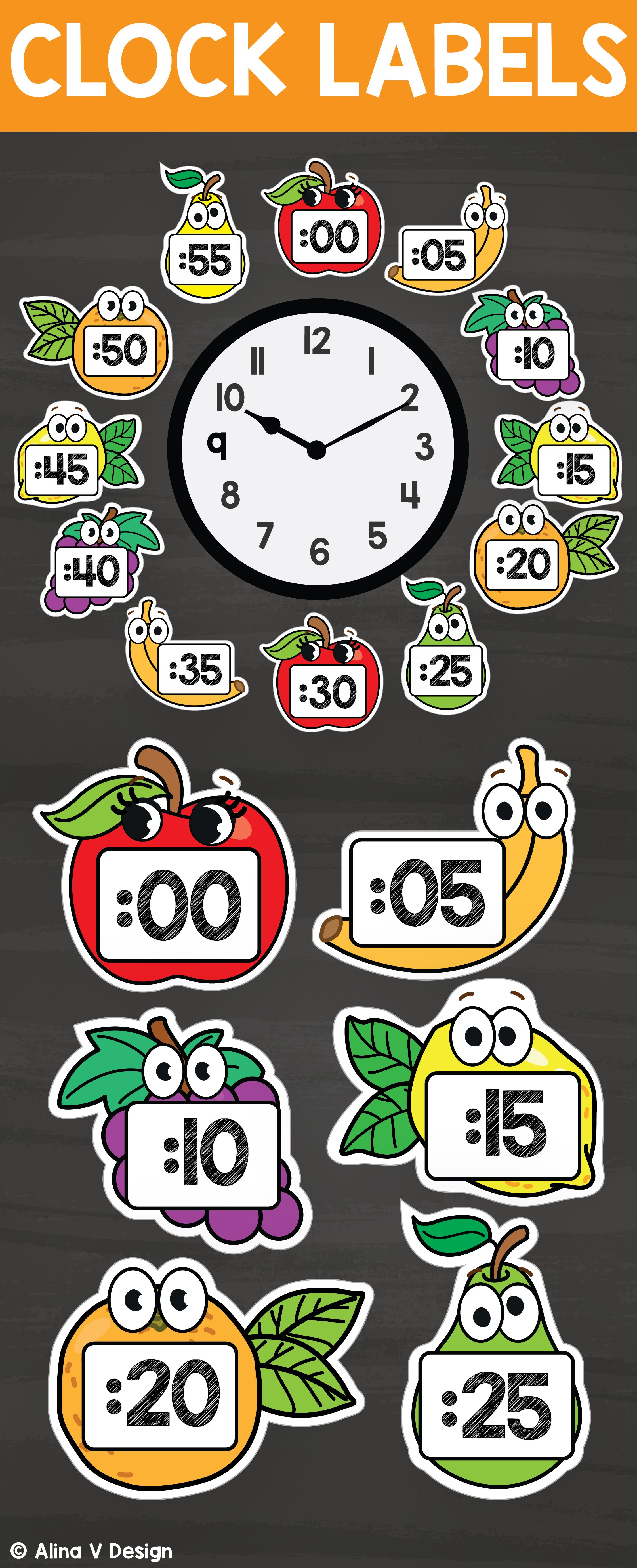 Printable Clock Labels For Your Classroom Decor That Will