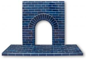 Edwardian Arch tiled fireplace insert