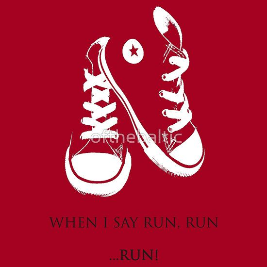 """""""When I say Run..."""" Kids Clothes by ofthebaltic 