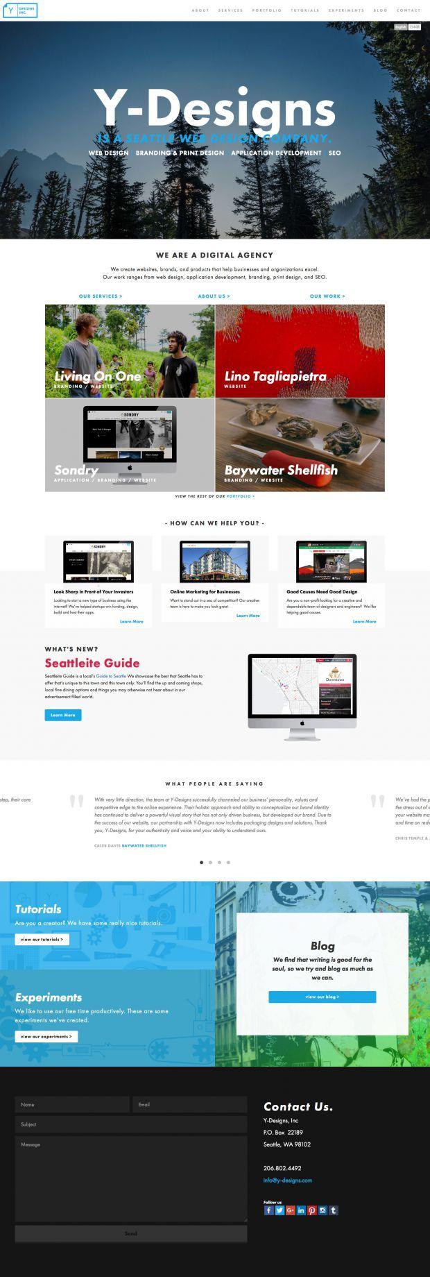 Seattle Web Design And Web Dev Y Designs Webdesign Inspiration On Www Niceoneilike Com Web Design Inspiration Web Design Web Design Company