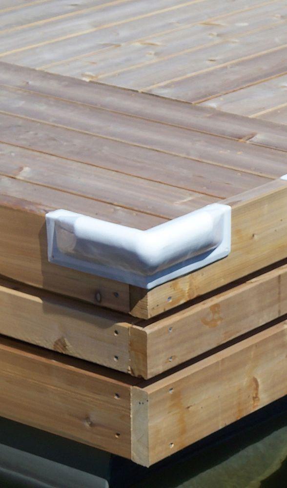 25 ft White P Profile Vinyl Marine Dock Edging Boat Corner Bumper Protector New