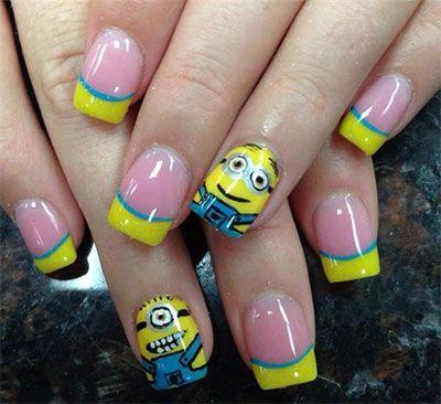 minions nails 2013 2014 despicable me 2 nail art designs