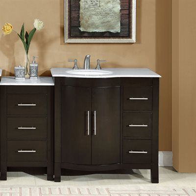 Picture Gallery Website Shop Silkroad Exclusive Kimberly Single Sink Modular Bathroom Vanity at ATG Stores Browse our bathroom vanities all with free shipping and best price