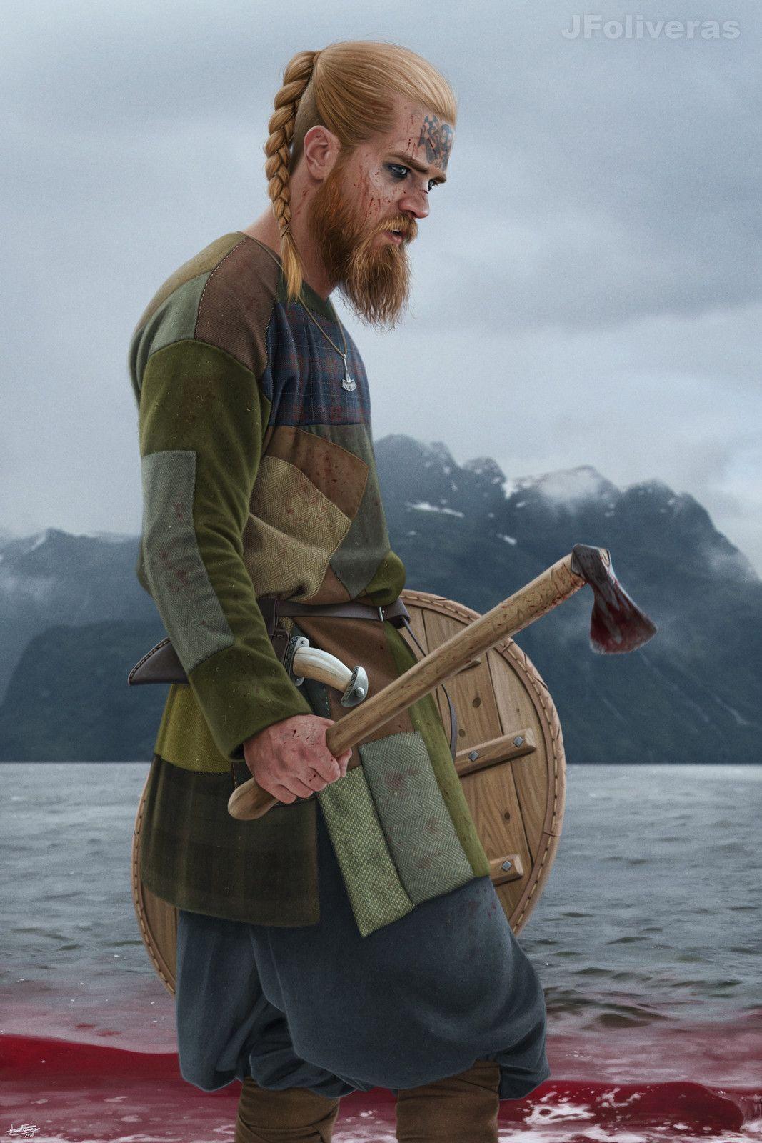 Norse Warrior Joan Francesc Oliveras Pallerols On Artstation At Https Www Artstation Com Artwork Pwz38 Norse Viking Character Ancient Warriors