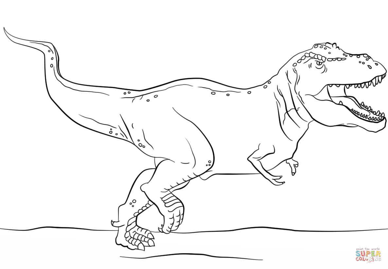 Jurassic Park T-Rex  Super Coloring  Dinosaur coloring, Super
