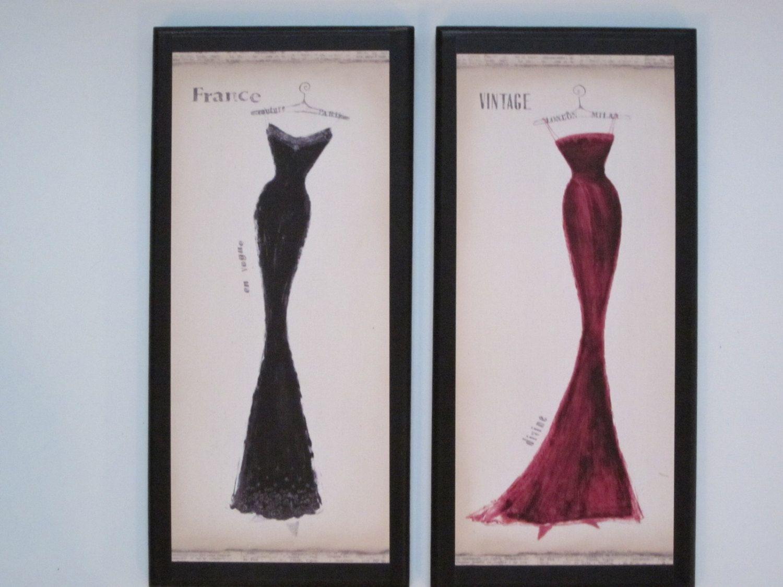 Paris Milan Dresses Couture Decor