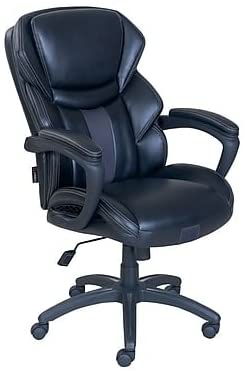 Amazon Com Dormeo Espo Octaspring Bonded Leather Managers Office Chair Fixed Arms Black Kitchen Dining Office Chair Chair Leather Office Chair