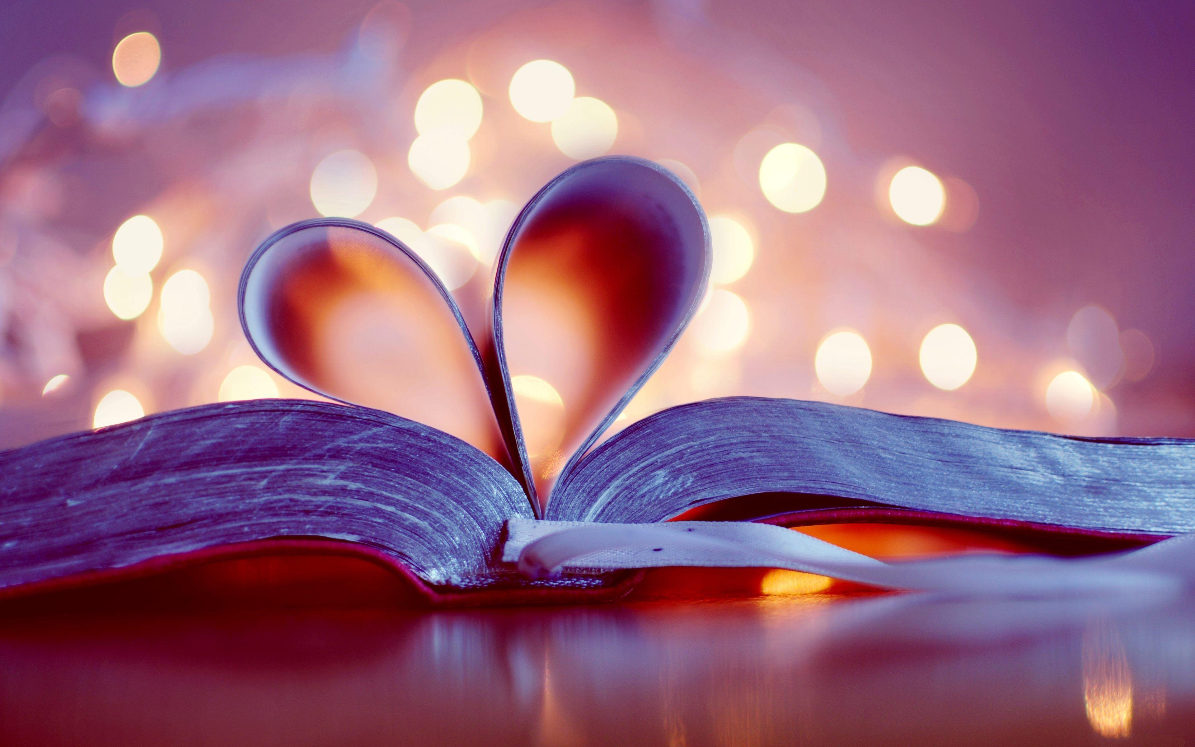Love Book Heart Art 4k Wallpaper Jpg 3840