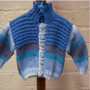 Baby Boy Blue Collared Jacket Pattern | Wool shop, Baby ...