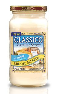 Classico Light Alfredo Sauce  2 WW Points Per Serving! Great Pictures