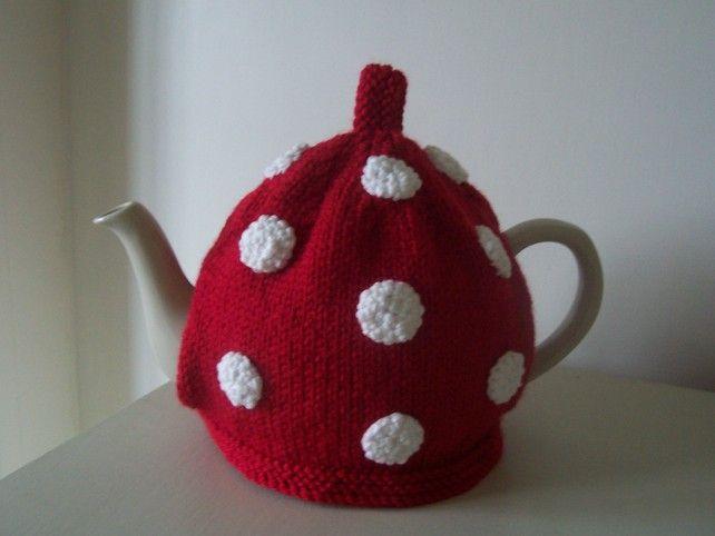 Knitting Pattern For Dottie Tea Cosy 300 Folksy Spotty