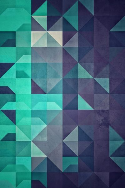 geometria azul