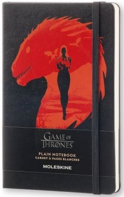 Large 8051272893090 Black Hard Cover Ruled Moleskine Game of Thrones Limited Edition Notebook