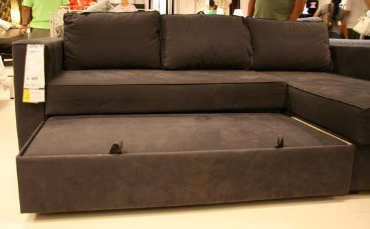 MANSTAD Sectional Sofa Bed & Storage from IKEA | Small den ...