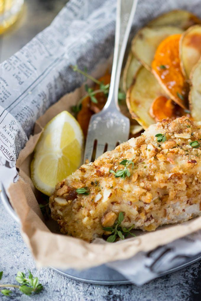 Healthy Oven Baked Fish And Chips Simple Healthy Kitchen Recipe Oven Baked Fish Baked Fish Healthy Dinner Recipes