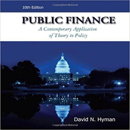 Test bank for public finance 10th edition by hyman test bank test bank for public finance 10th edition by hyman fandeluxe Gallery