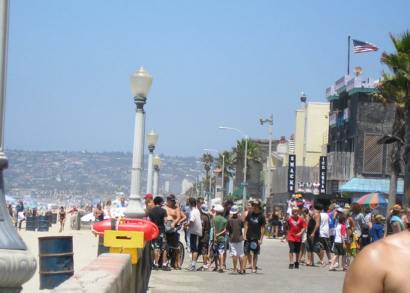 Pacific Beach Boardwalk San Go California Zach N I Met Some Of The Coolest People