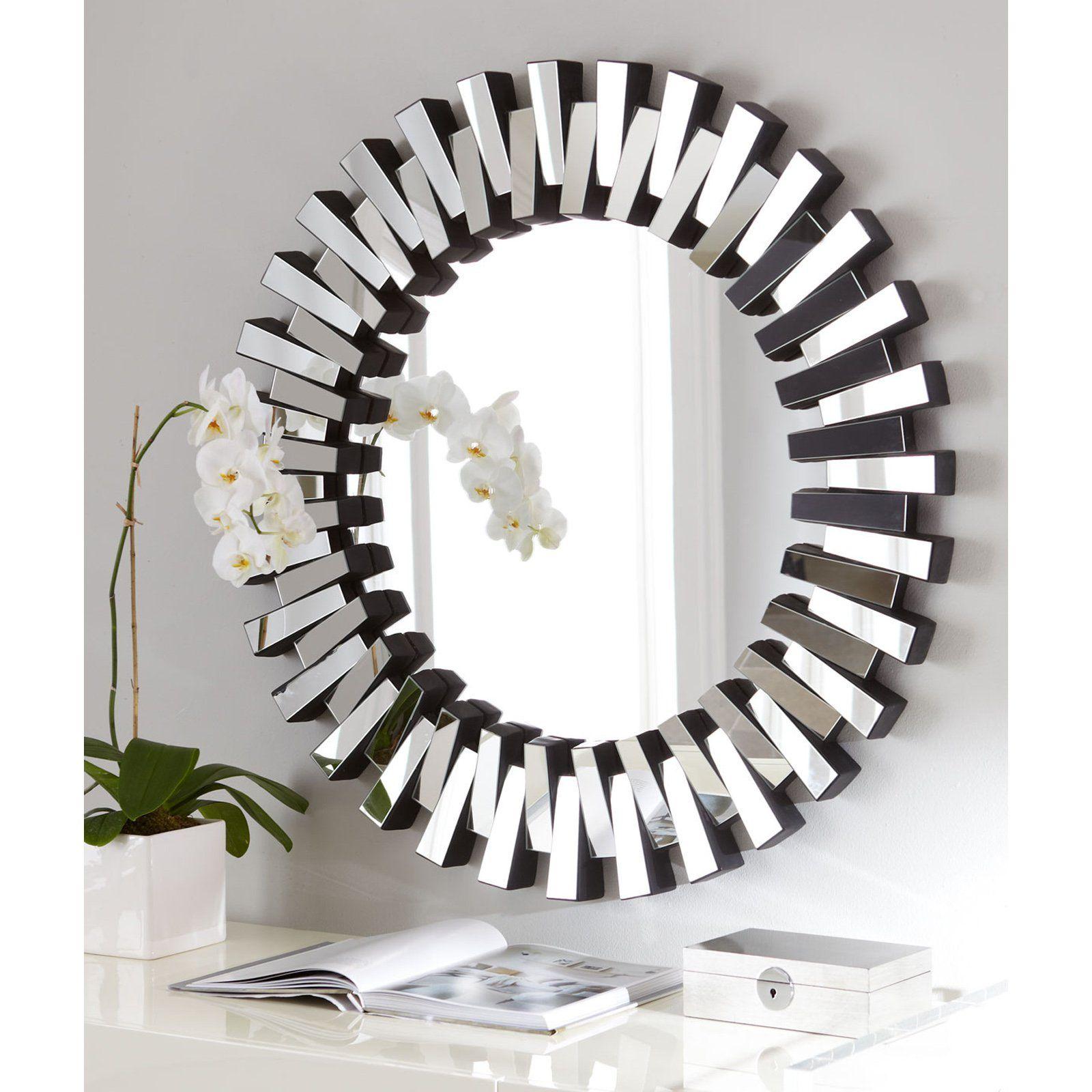 Afina Modern Luxe Round Wall Mirror 36 In Modern Mirror Wall