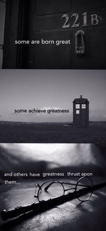 Sherlock, Doctor Who and Harry Potter all in one... I love the internet.