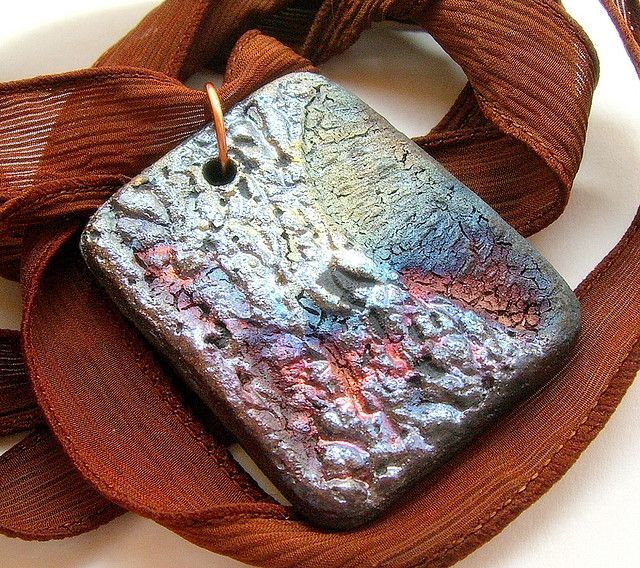 Raku pendantraku jewelry by makustudio pendants clay and pottery raku pendantraku jewelry by makustudio aloadofball Choice Image