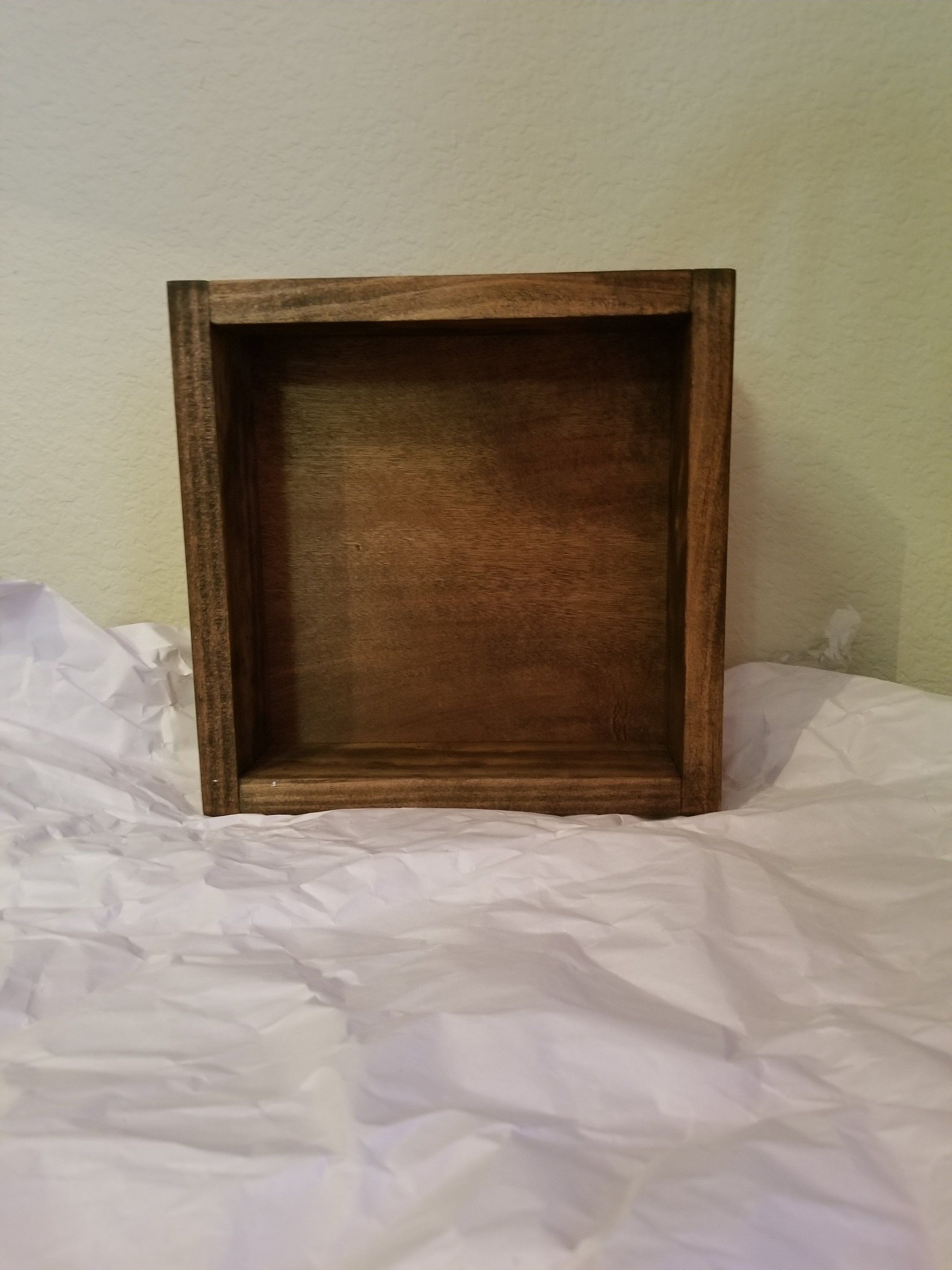 8x8 Handcrafted Wood Shadow Box Display Case Permanent Glass Top Or Hinged Glass Lid Painted Or Stai Shadow Box Display Case Wood Shadow Box Handcrafted Wood