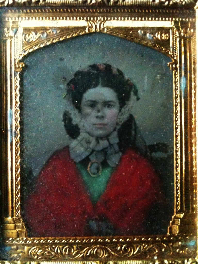 Tinted girl with cameo ambrotype | by smokey lace