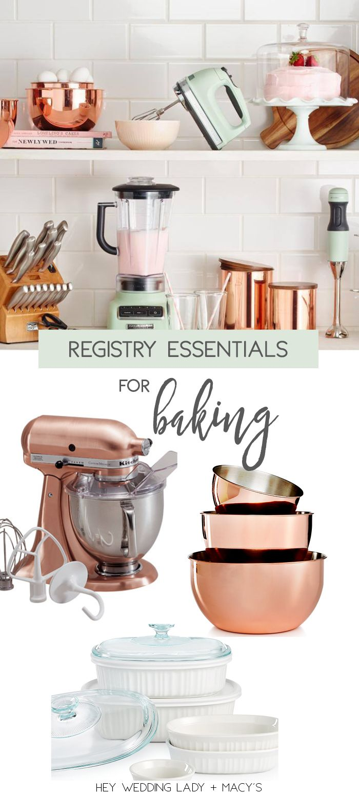 top wedding registry picks for baking must haves