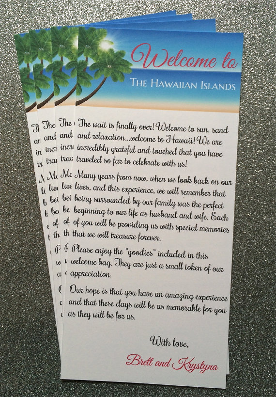 Photo of Destination Wedding Welcome Letter, Beach Wedding Welcome Letter, Wedding Welcome Letter, Wedding Welcome, Tropical Wedding, Hawaii Wedding