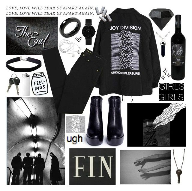 """""""joy division"""" by falselycathartic ❤ liked on Polyvore featuring Yves Saint Laurent, Ash, CLUSE, Tiffany & Co., The Giving Keys, Miss Selfridge and Areaware"""