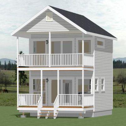 excellent guest house over garage. 16x16 House w  Loft 16X16H1 493 sq ft Excellent Floor