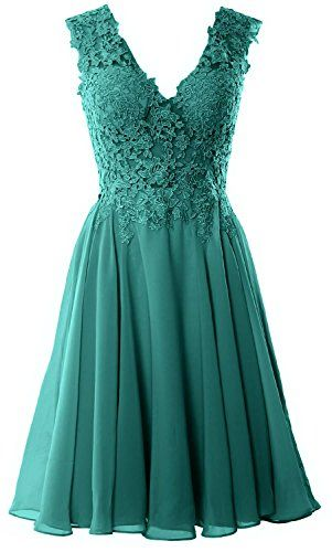 MACloth Gorgeous V Neck Cocktail Dress Short Lace Prom Ho... https:/