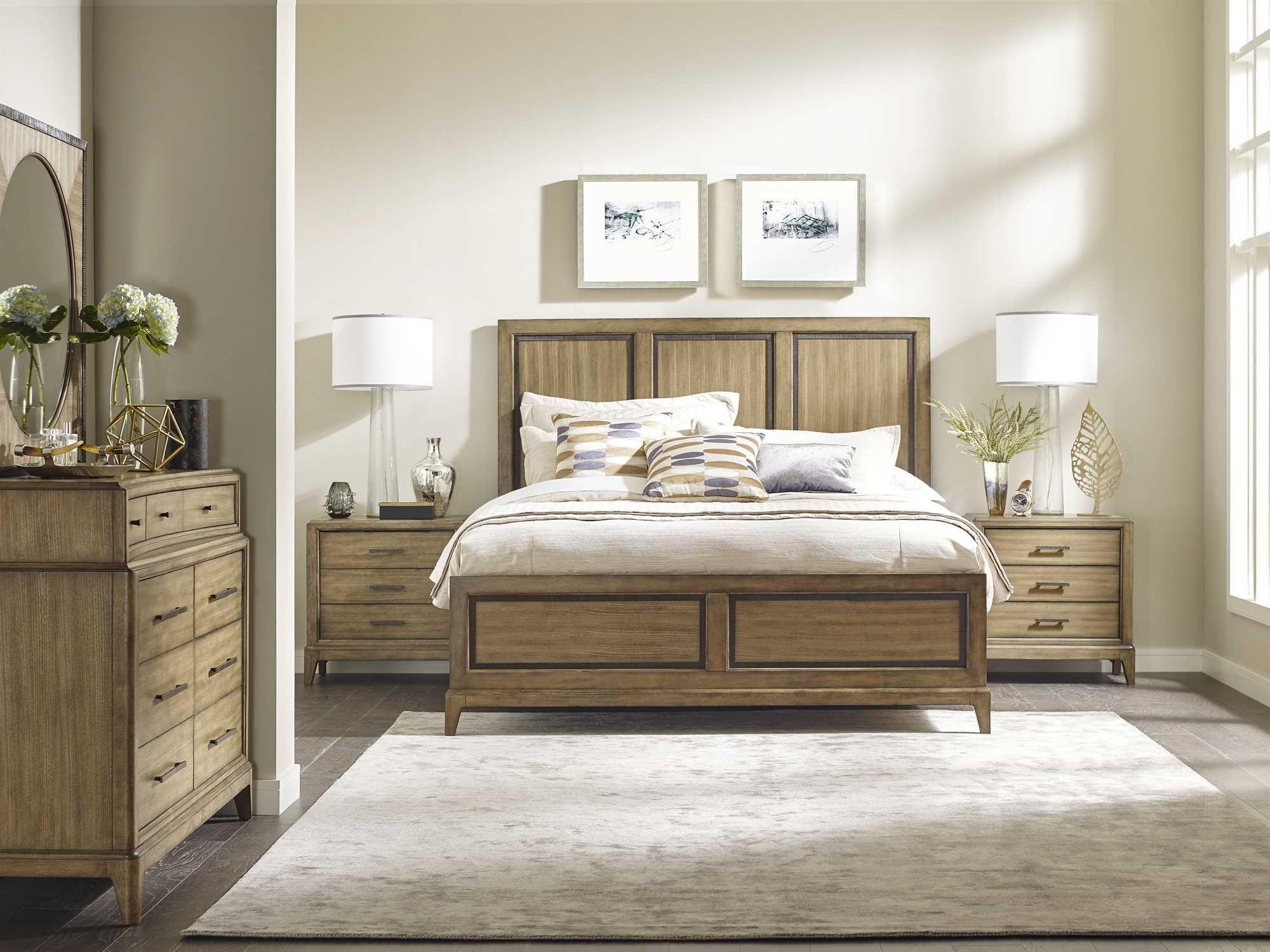 American Drew Evoke Panel Bed Bedroom Set Luxurious