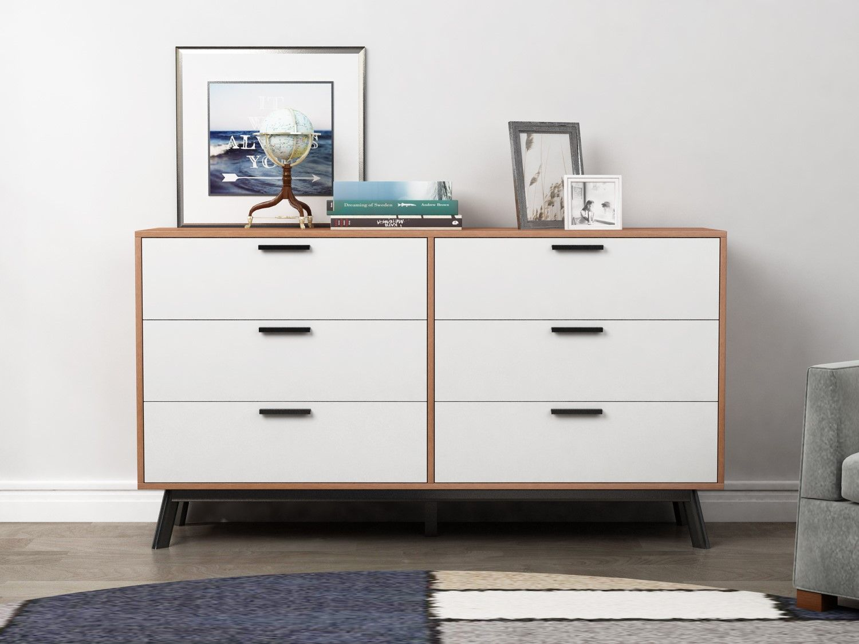 Best Mainstays Mid Century Modern 6 Drawer Dresser In Multiple 400 x 300