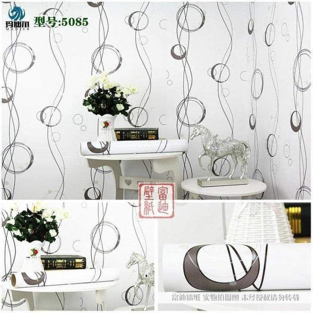 Wallpaper Motif Bunga Mawar Kamar