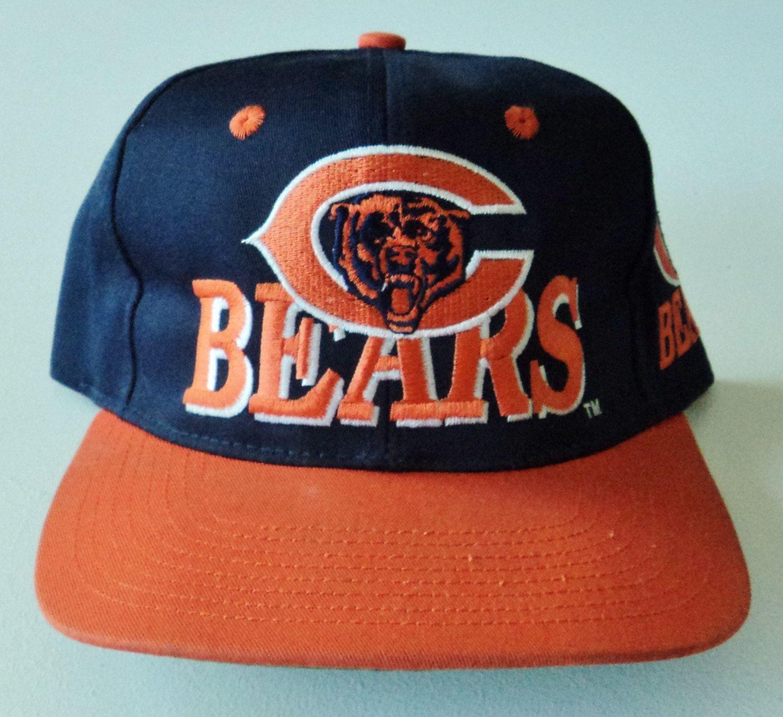 Vintage Chicago Bears AJD Snapback Hat NFL VTG by StreetwearAndVintage on  Etsy b2490a4ba