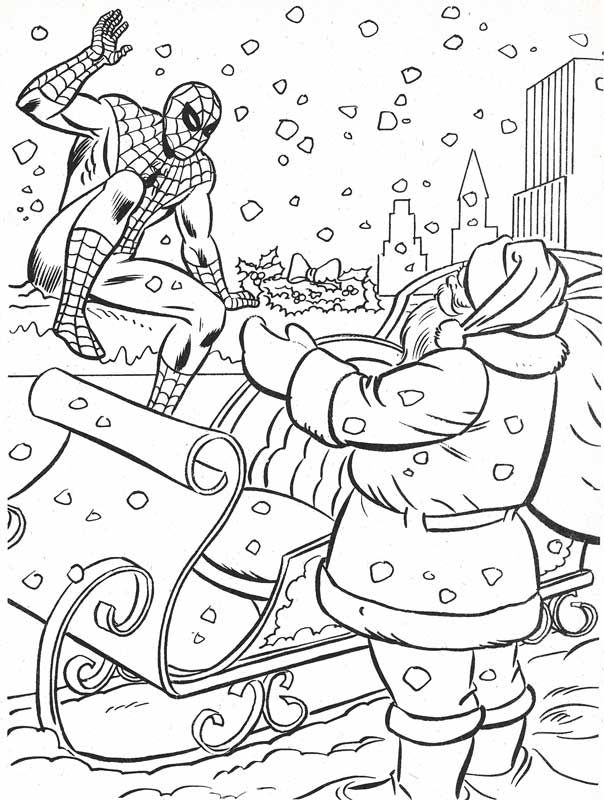 Spiderman Christmas Coloring Pages : spiderman, christmas, coloring, pages, Marvel03.jpg], Avengers, Coloring, Pages,, Christmas, Books,, Spiderman