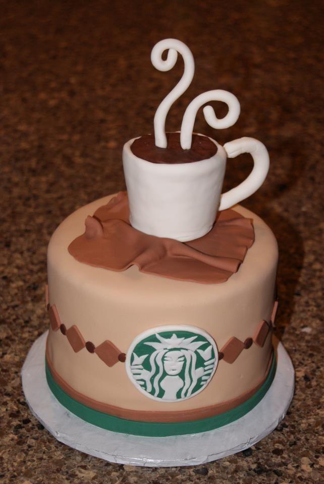 Starbucks Cake!!  By: Betnie Bakes www.betniebakes.com #starbuckscake
